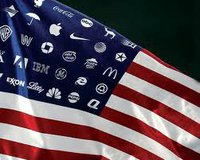Corporate flage of USA