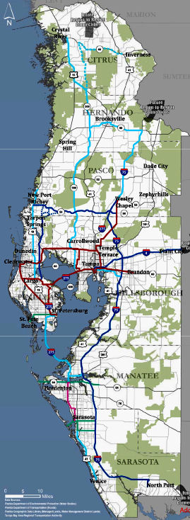 Map of West Central Florida